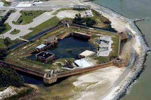 Fort Gaines after Hurricane Katrina