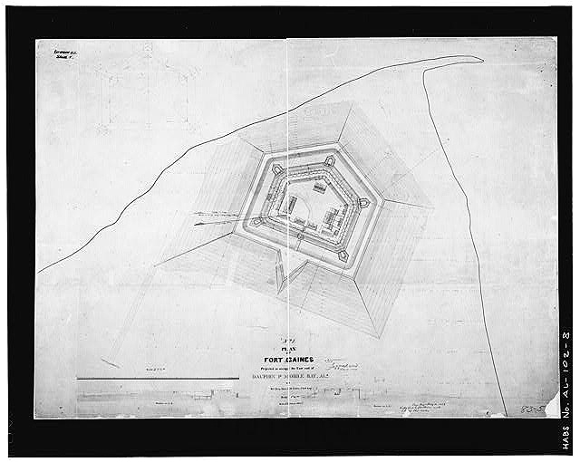1854 plans for Fort Gaines, Dauphin Island, AL