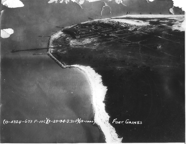 1934 Aerial photo of Dauphin Island