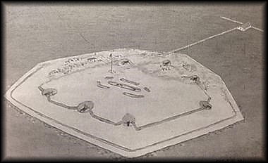Drawing of Fort Powell