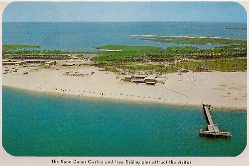 Aerial of the casino on dauphin island for Dauphin island fishing pier